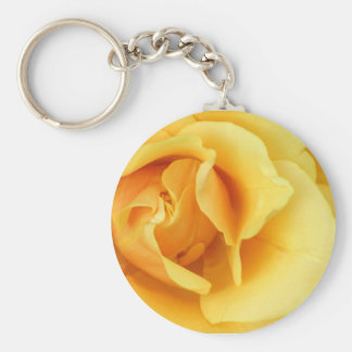 Yellow Rose Blossom Keychain