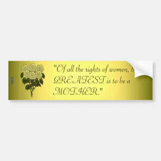 Yellow Rose Bouquet (Mothers Day) Bumper Stickers