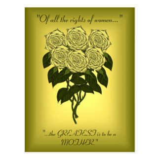 Yellow Rose Bouquet (Mothers Day) Postcard