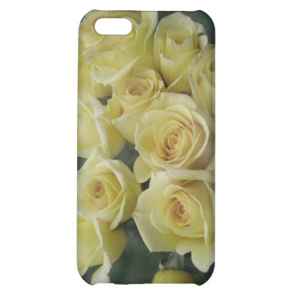 Yellow Rose bouquet spotted background Case For iPhone 5C