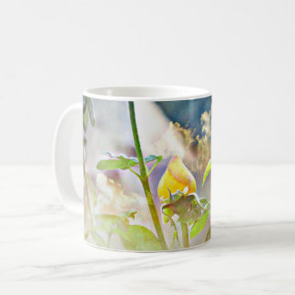 Yellow Rose Bud Classic Coffee Cup