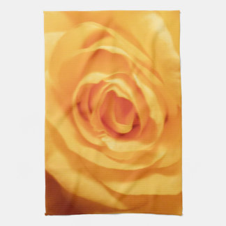 Yellow Rose Bud Roses Flower Floral Photo Hand Towel