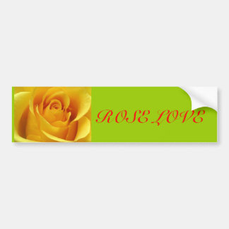 Yellow Rose Bumper Sticker Car Bumper Sticker