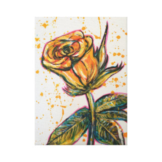 'Yellow Rose' Canvas Print