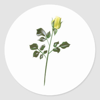 Yellow Rose Clipart Round Sticker