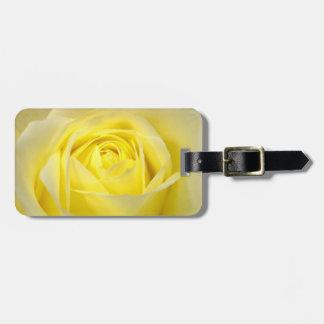 Yellow Rose Closeup Bag Tags