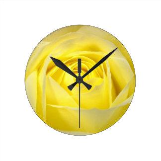 Yellow Rose Closeup Clock