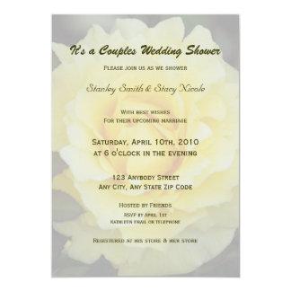 Yellow Rose Couples Wedding Shower Invitation 5x7