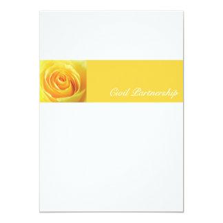 Yellow Rose - CP Invitation 13 Cm X 18 Cm Invitation Card