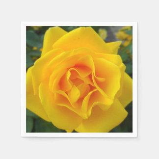 Yellow Rose Disposable Serviettes