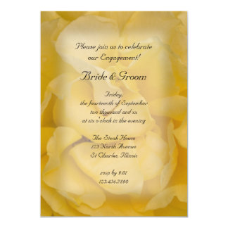"Yellow Rose Engagement Party Invitation 5"" X 7"" Invitation Card"