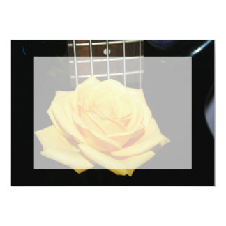 yellow rose five string bass music design photo cards