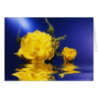 Yellow Rose Floating Greeting Card