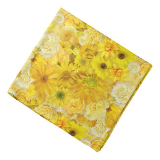 Yellow Rose Friendship Bouquet Gerbera Daisy Bandana
