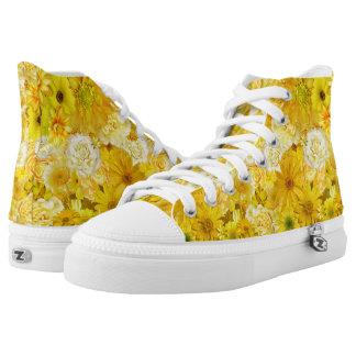 Yellow Rose Friendship Bouquet Gerbera Daisy High Tops