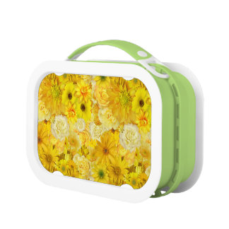 Yellow Rose Friendship Bouquet Gerbera Daisy Lunch Box