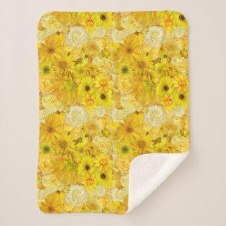 Yellow Rose Friendship Bouquet Gerbera Daisy Sherpa Blanket
