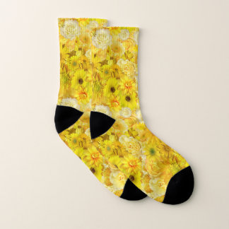 Yellow Rose Friendship Bouquet Gerbera Daisy Socks
