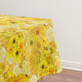 Yellow Rose Friendship Bouquet Gerbera Daisy Tablecloth