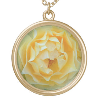 """YELLOW ROSE"" GOLD PLATED NECKLACE"