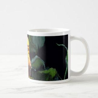 Yellow rose horizontal water glass duplicate coffee mug
