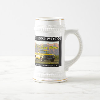 Yellow Rose ii (left handed) Beer Stein