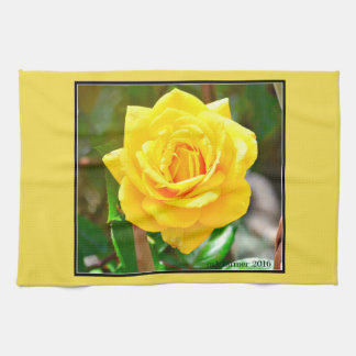 Yellow Rose Kitchen Towel