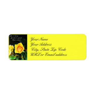 Yellow Rose Life is Change Address Label