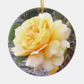 Yellow Rose Memorial Ornament