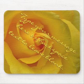 Yellow Rose Mousepad Personalized Rose Mousepad