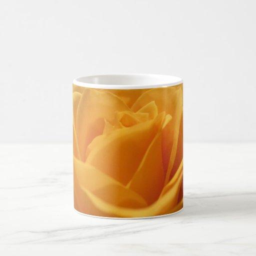 Yellow rose coffee mugs