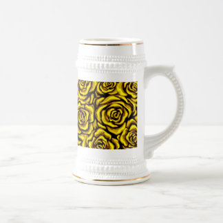 Yellow Rose Beer Steins