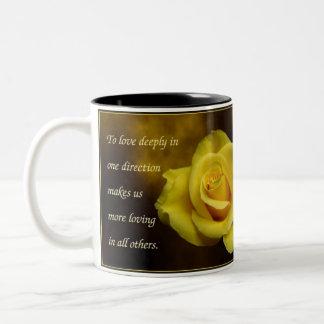 Yellow Rose Two-Tone Coffee Mug