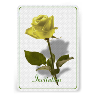 Yellow Rose of Friendship Personalized Invites