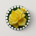 Yellow Rose of Texas 6 Cm Round Badge