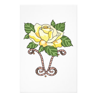 YELLOW ROSE OF TEXAS PERSONALISED STATIONERY