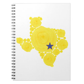 Yellow Rose of TX blue star Spiral Notebook