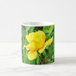Yellow Rose On Green Coffee Cup/Mug Coffee Mug