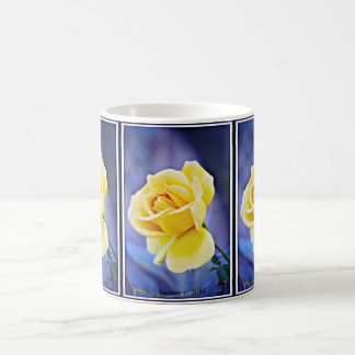 Yellow Rose On Purple Coffee Cup/Mug Coffee Mug