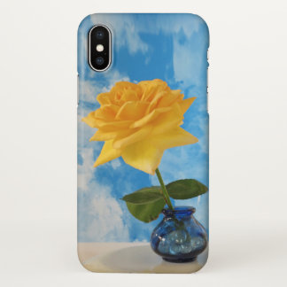 Yellow Rose on Sky iPhone X Case