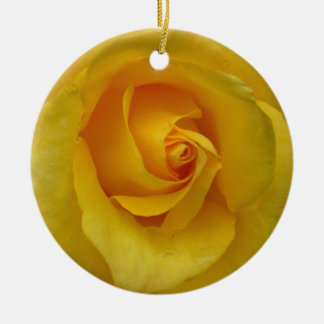 Yellow Rose Ornament Personalized Rose Decorations