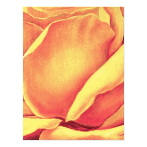 Yellow Rose Painting - Multi Post Cards