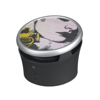 Yellow Rose painting on a Bumpster Speakers Speaker