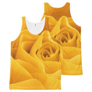 Yellow Rose Petals All-Over Print Tank Top