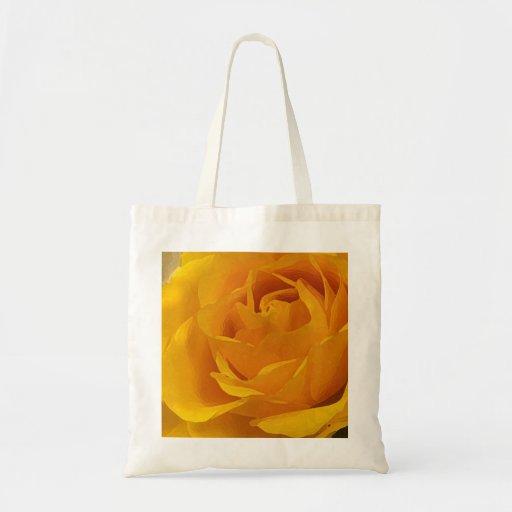 Yellow Rose Petals Tote Bags
