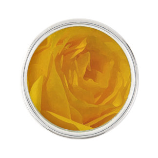 Yellow Rose Petals Lapel Pin