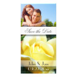 """Yellow Rose  /photo  """"Save the Date"""" Personalized Photo Card"""