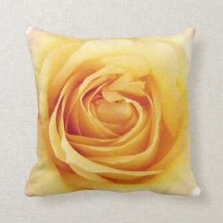 Yellow rose pillow throw cushion