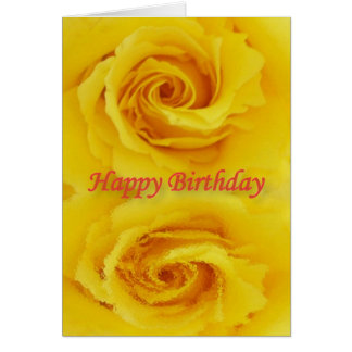 Yellow rose-reflection greeting card