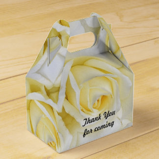Yellow Rose Retirement Favor Box Party Favour Boxes